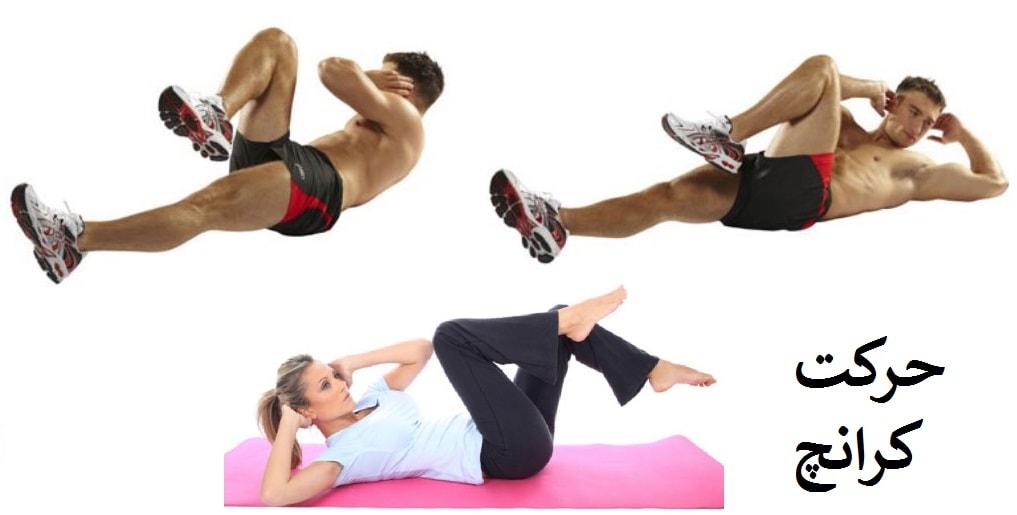 ورزش کرانچ برای لاغری شکم