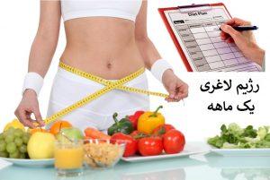 رژیم لاغری یک ماهه ، معجزه ای واقعی برای کاهش وزن و تناسب اندام